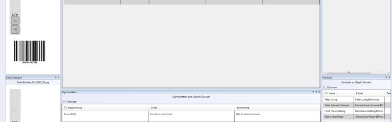 Hauptbildschirm-inventarverwaltung